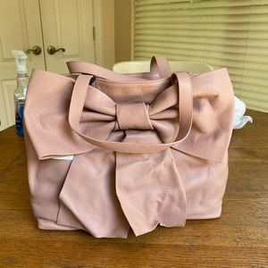 NWT Red Valentino pink leather bow bag
